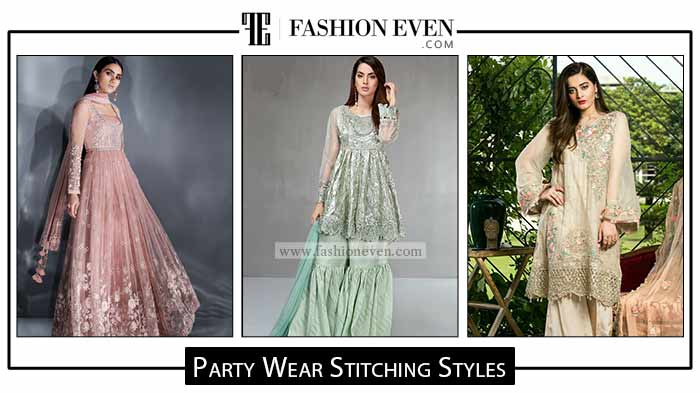 Pakistani party dresses stitching styles for girls