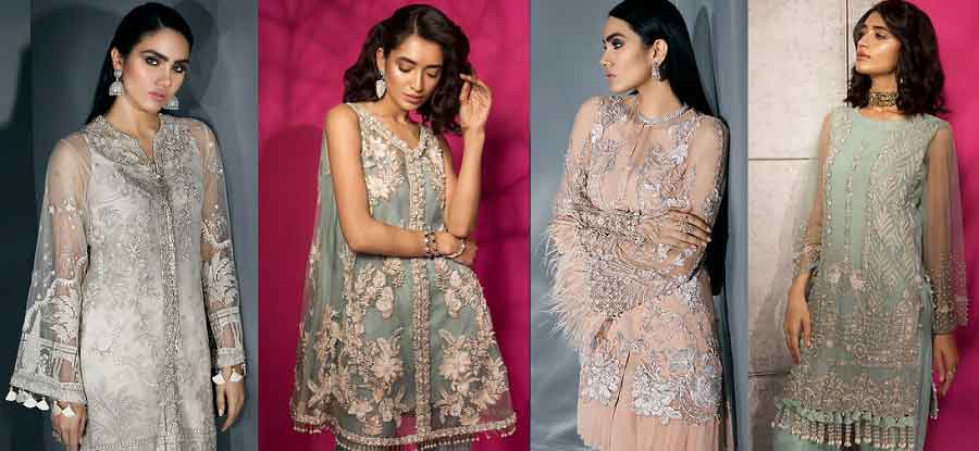 New Stitching style of pakistani party dresses