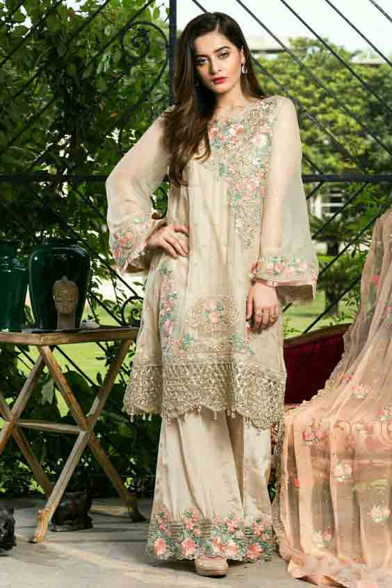 Stitching style of A-line shirt for Pakistani girls