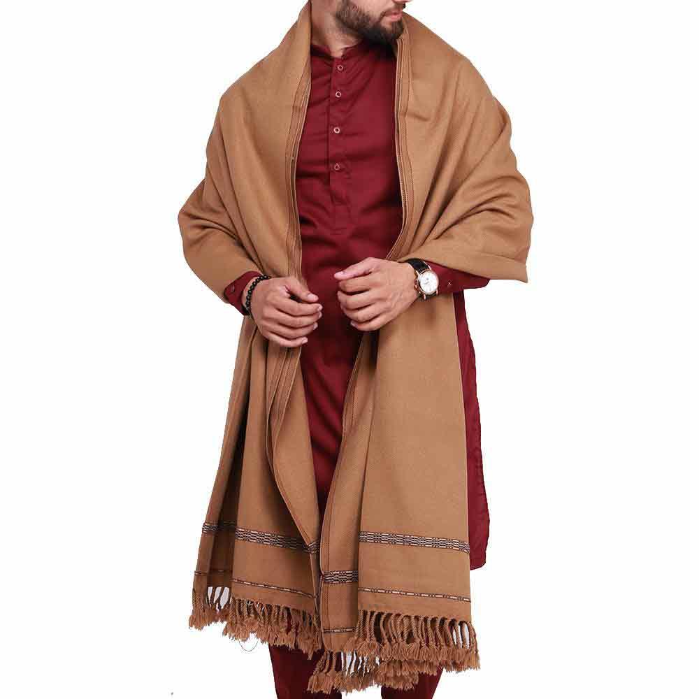 Brown shawl design for winter
