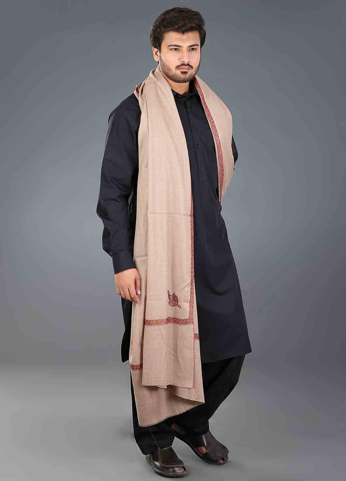 Border shawls for men