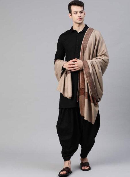 Skin winter shawl for men