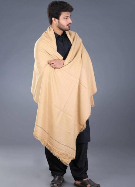 Cream shawls for boys