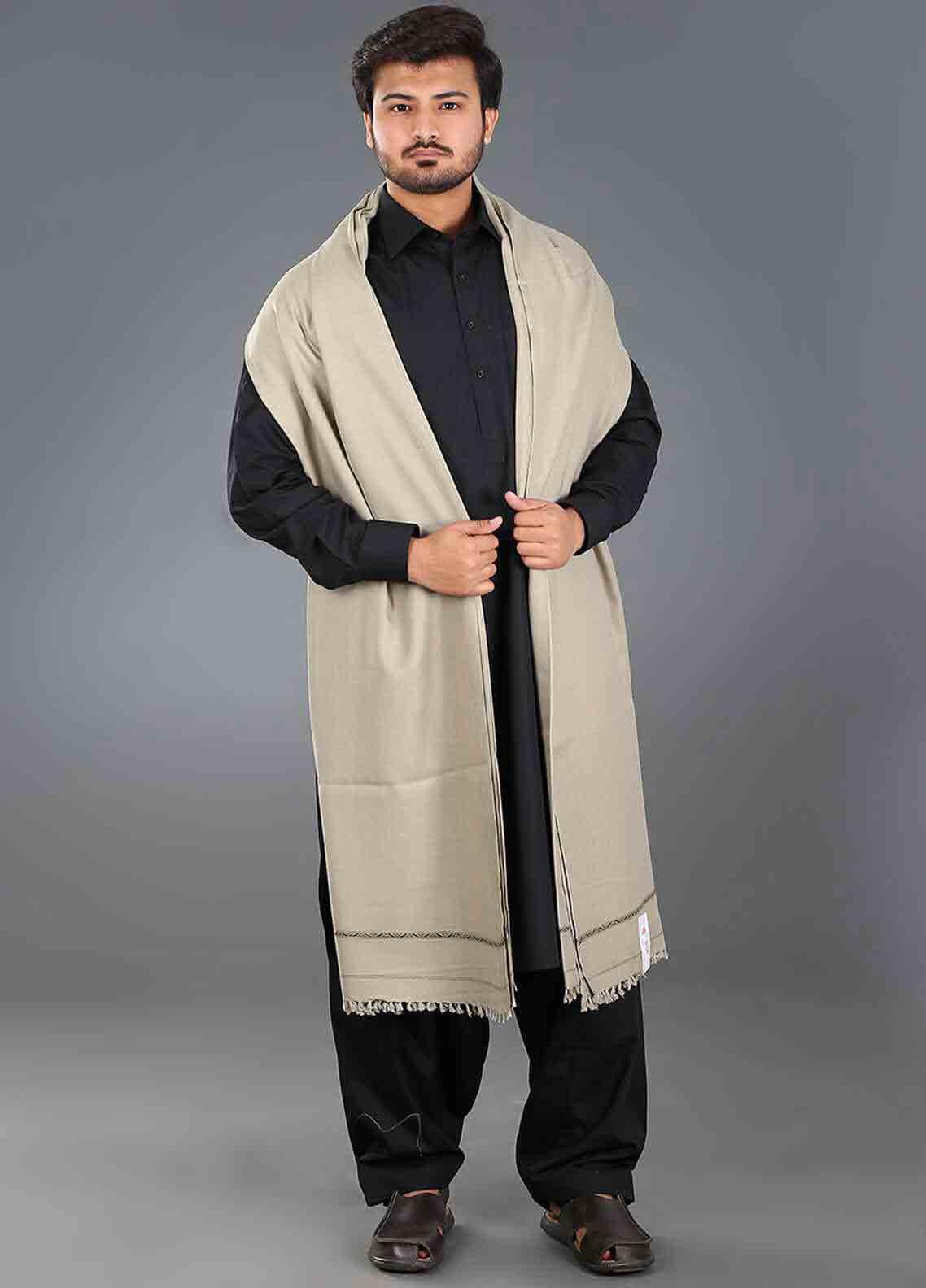 Grey winter shawls for men