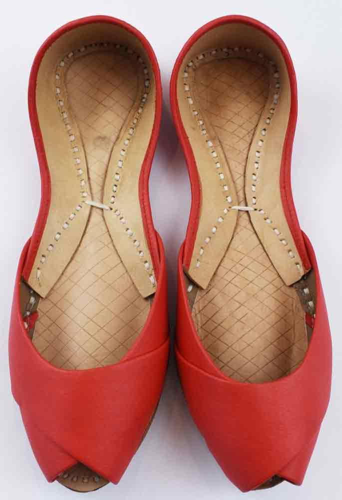Red peep toes khussa style in Pakistan