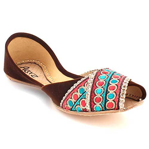 Peep toes khussa designs for ladies