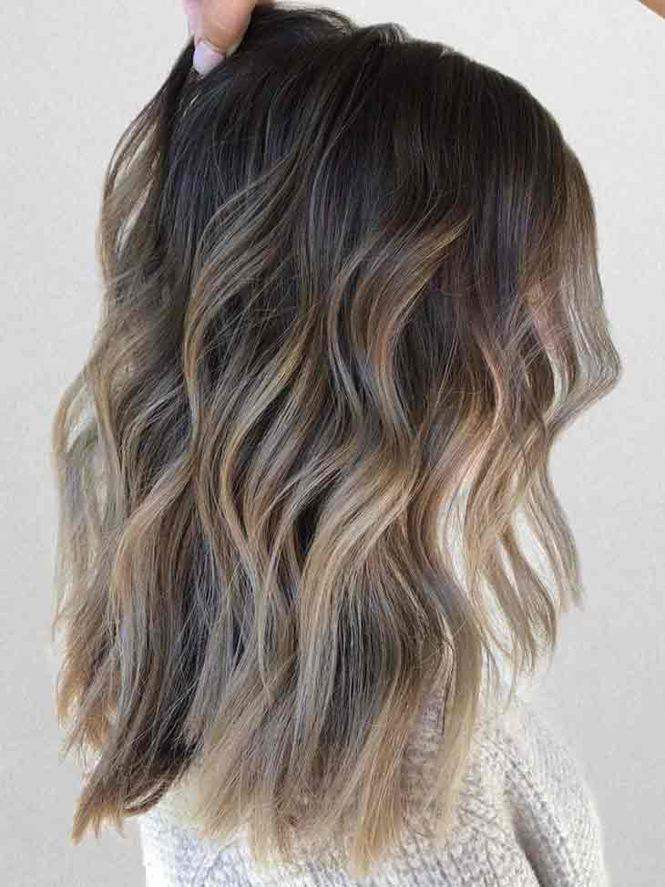 New ombre hair color trends for medium hair length