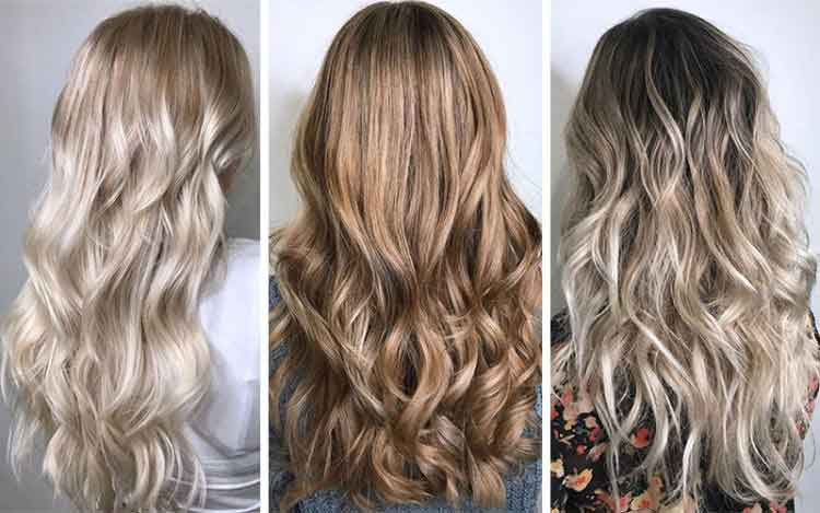 Ombre hair color trends for long hair length