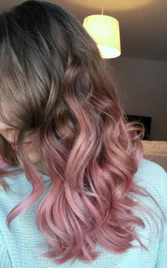 Light brown and purple ombre hair trends for Pakistani girls