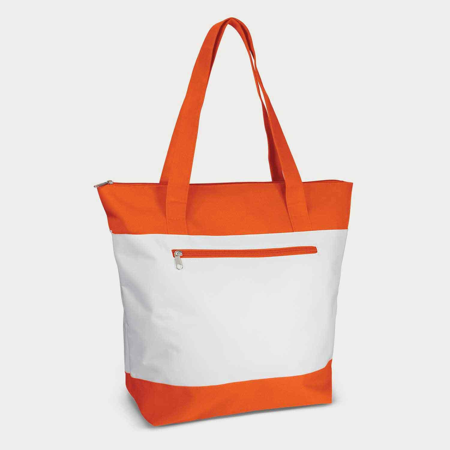 Orange and white tote handbag designs