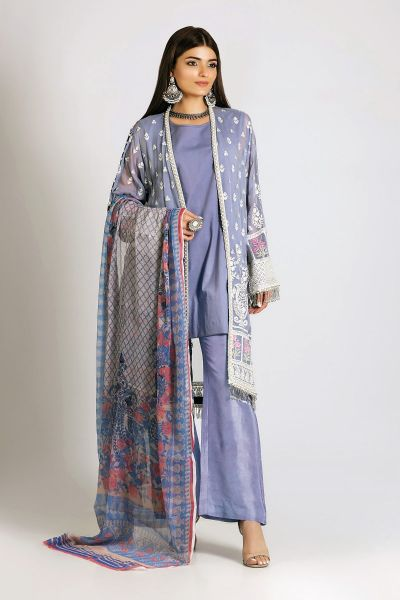 Latest Khaadi embroidered dress in Pakistan