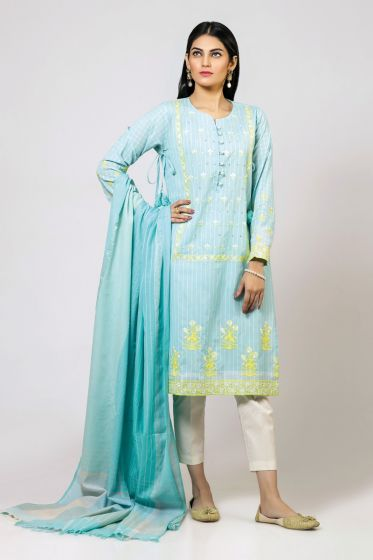 Sky blue shirt with dupatta for Pakistani girls