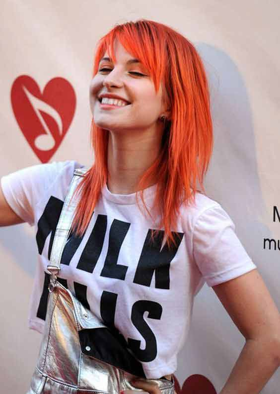 New red emo haircut and hairstyles for girls