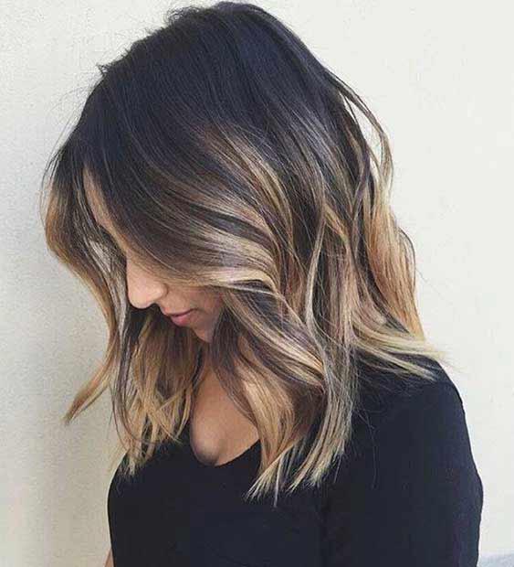 Wavy long bob haircut and hairstyles for medium hair