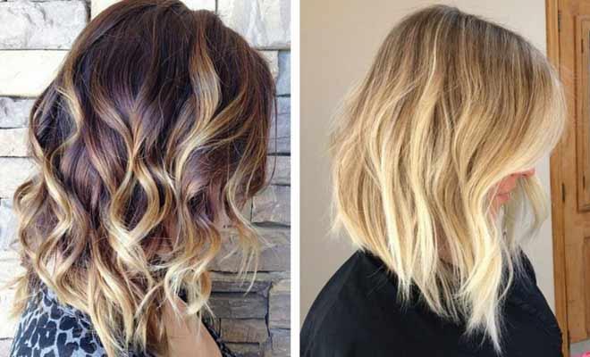 Wavy lob haircut and hairstyle ideas