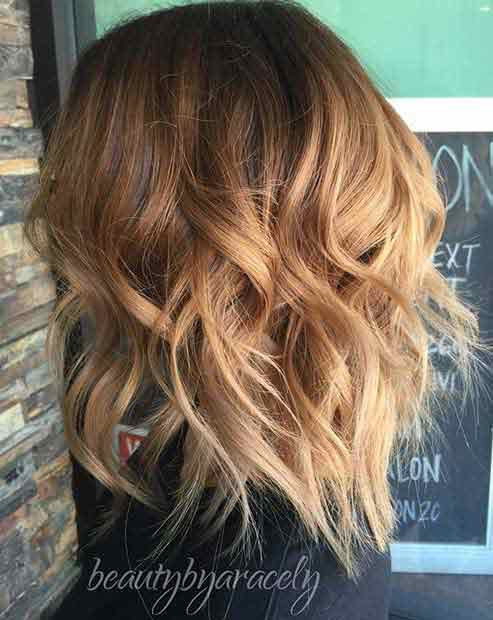 Shoulder length lob haircut and hairstyles