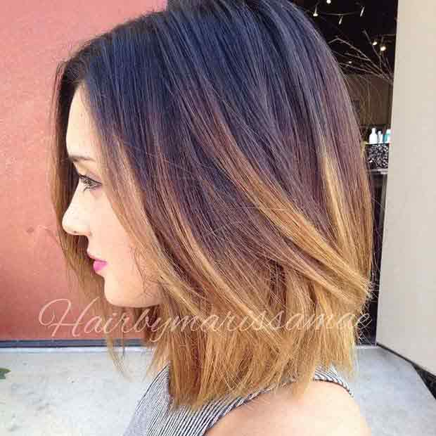 Ombre lob haircut and hairstyles for girls