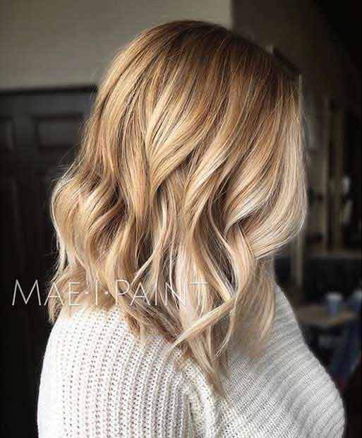 Shoulder length haircut for medium hair
