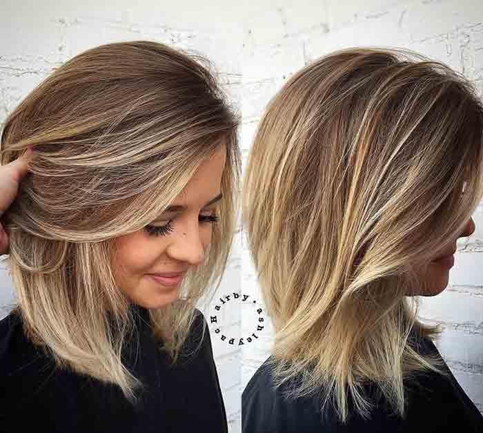 Shoulder length straight haircut and hairstyle ideas