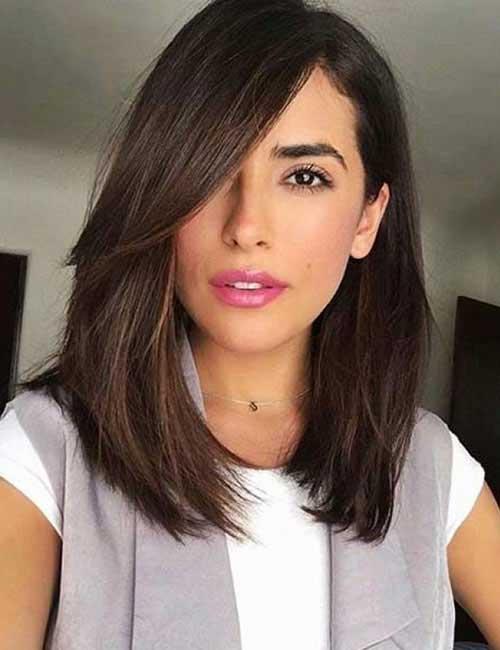Latest medium length straight haircut ideas