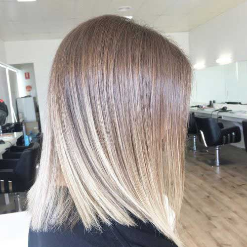 Shoulder length straight haircut and hairstyles