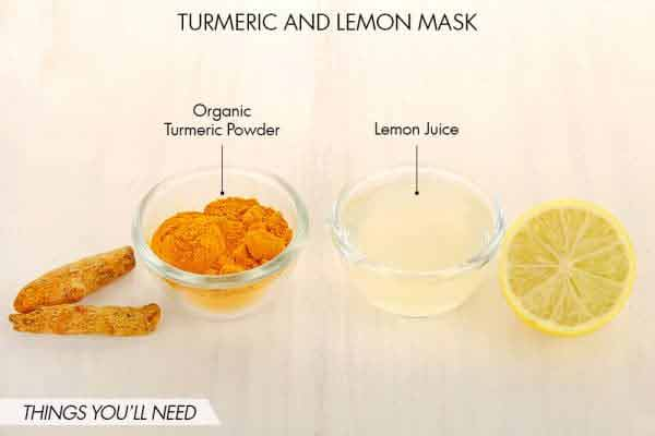 Pakistani home remedies for pimples by Turmeric and lemon juice