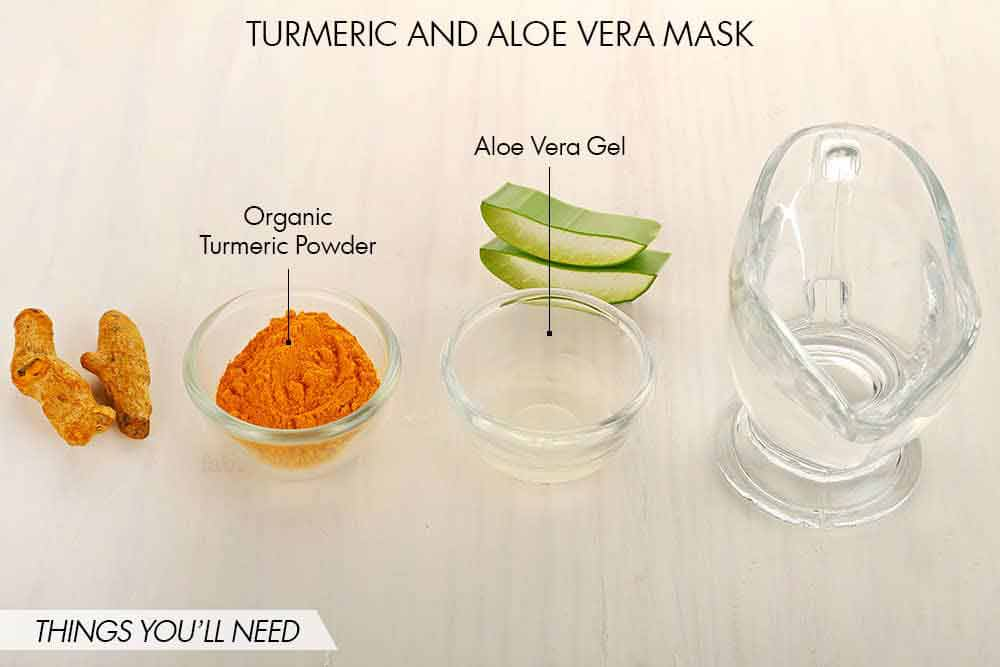 Pakistani home remedies for pimple by Aloe Vera gel and turmeric powder