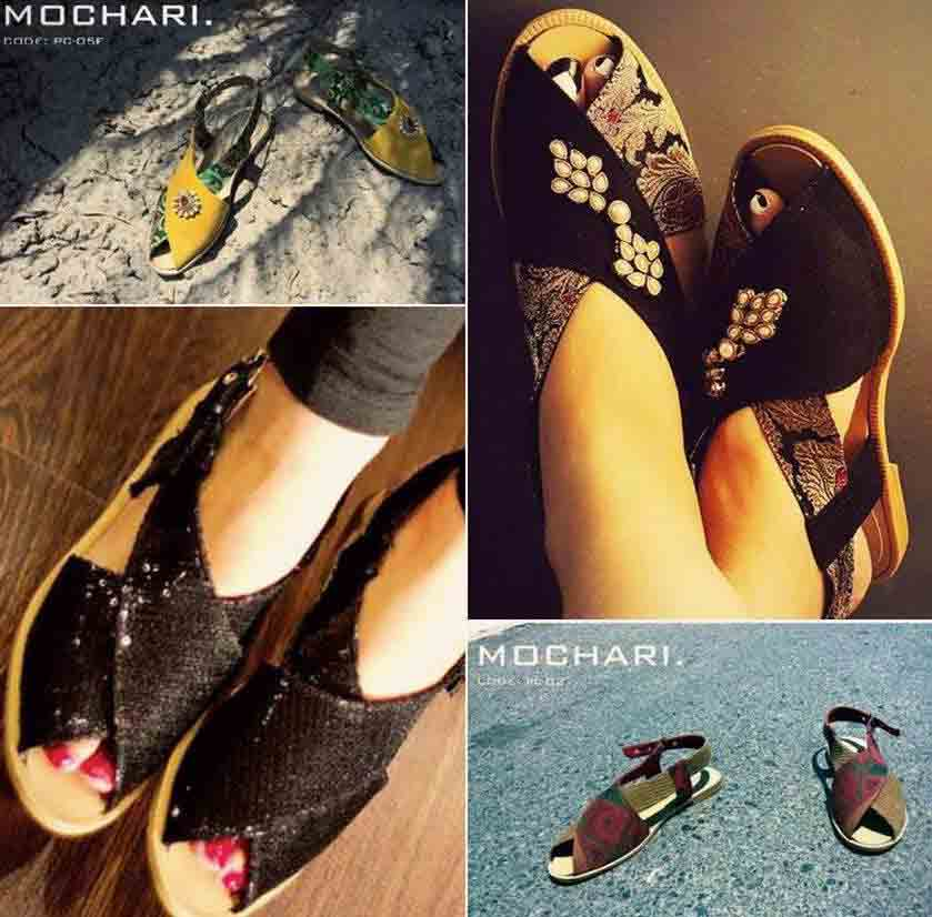 Black peshawari chappal designs for girls