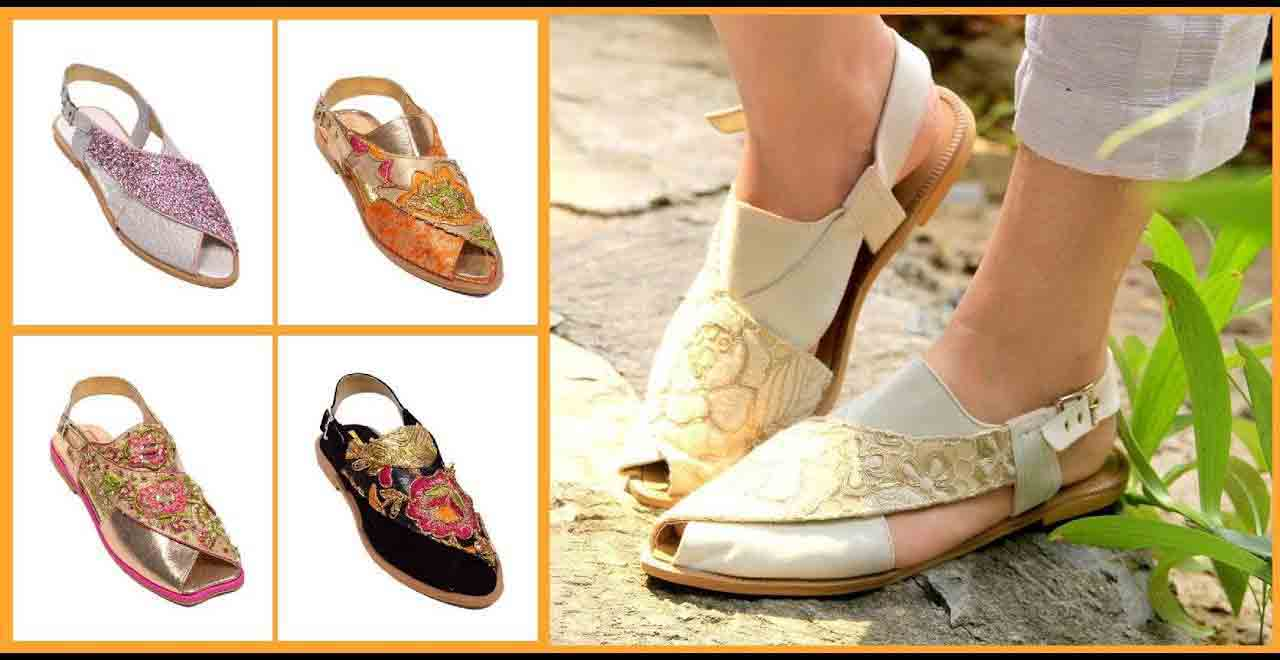 Off white peshawari chappal designs in Pakistan