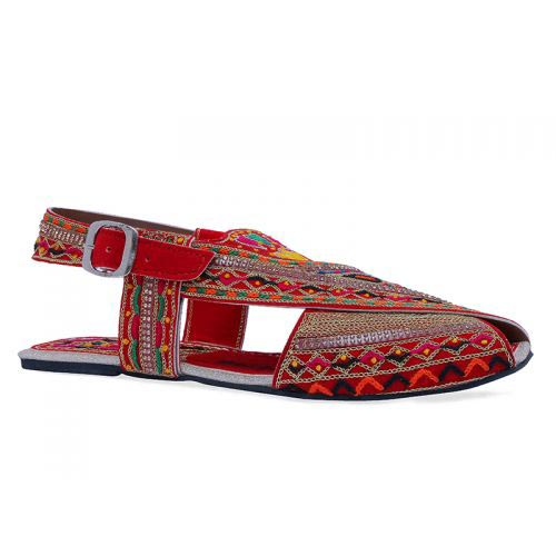 Embroidered peshawari chappal designs for girls