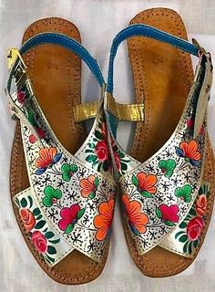 Multi color peshawari chappal design for ladies