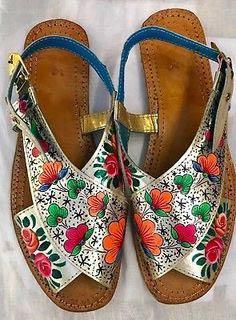 Multi color peshawari chappal design for ladies