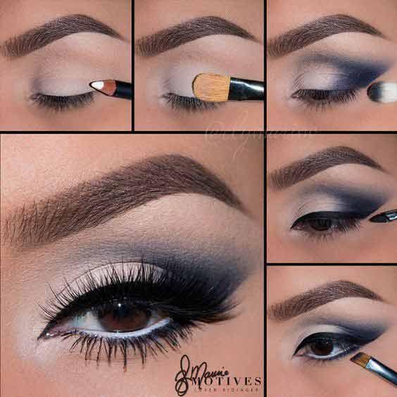 smokey eye makeup tutorial for brown eyes
