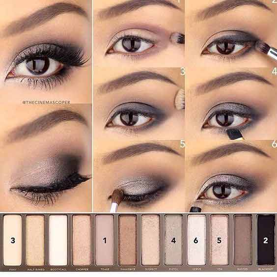 Light smokey eye makeup tutorial