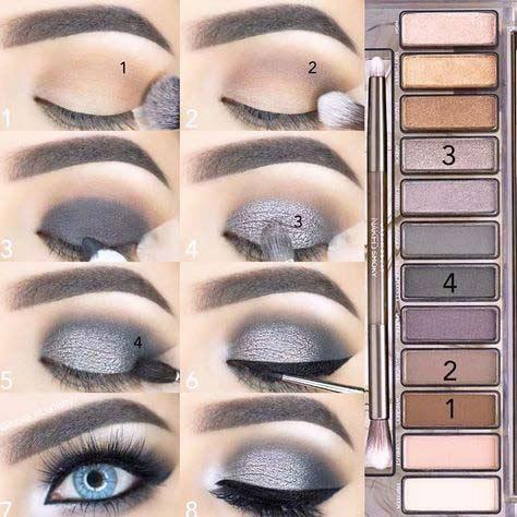 Smokey eye makeup tutorials for blue eyes