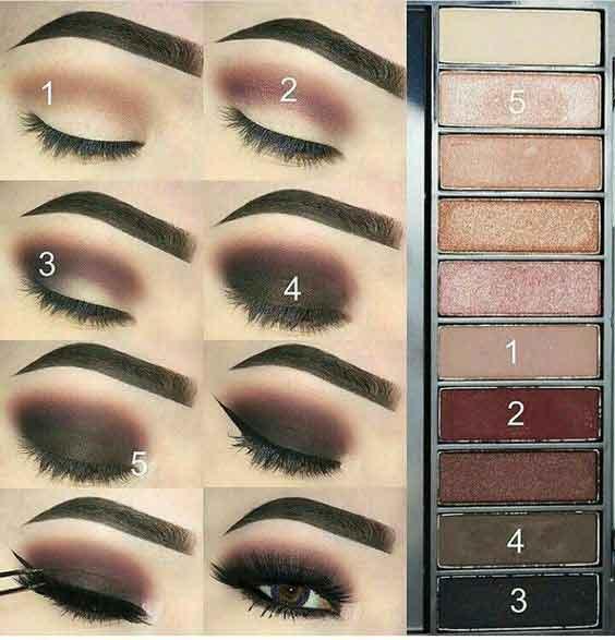 Dark smokey eye makeup step by step