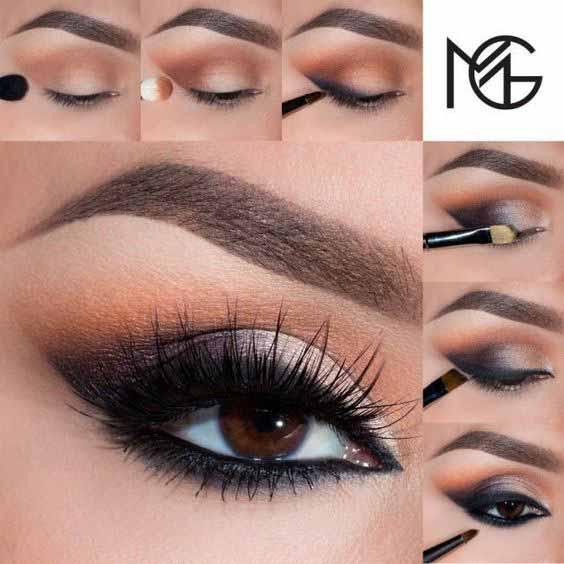 Best smokey eye makeup tutorial for brown eyes