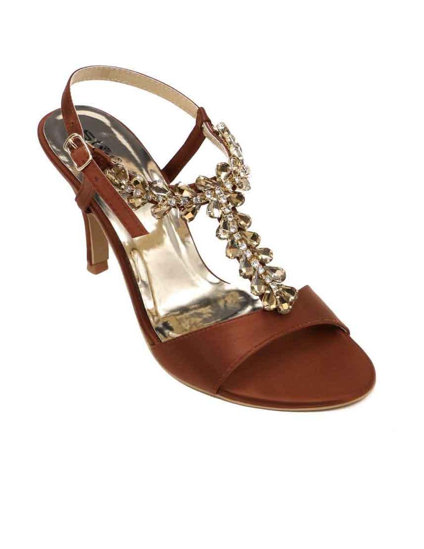 Fancy brown stylo shoes for Eid