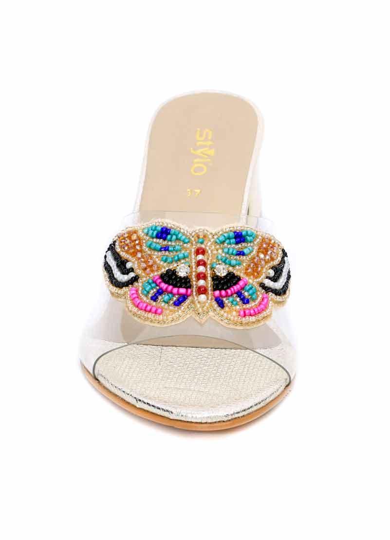 Butterfly fancy stylo shoes for eid