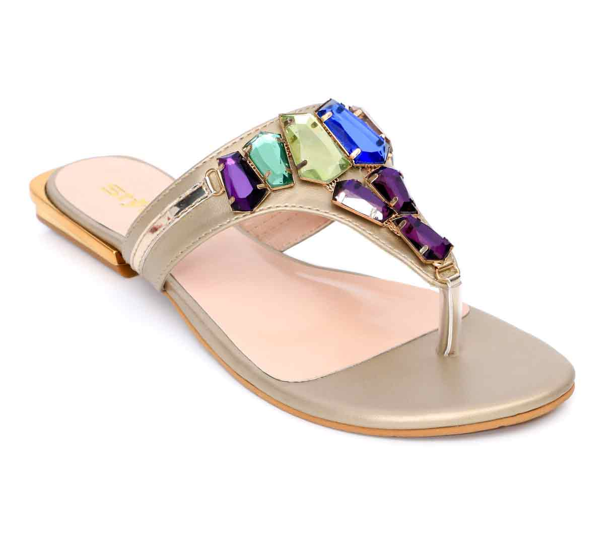 Multicolored flat shoes for eid