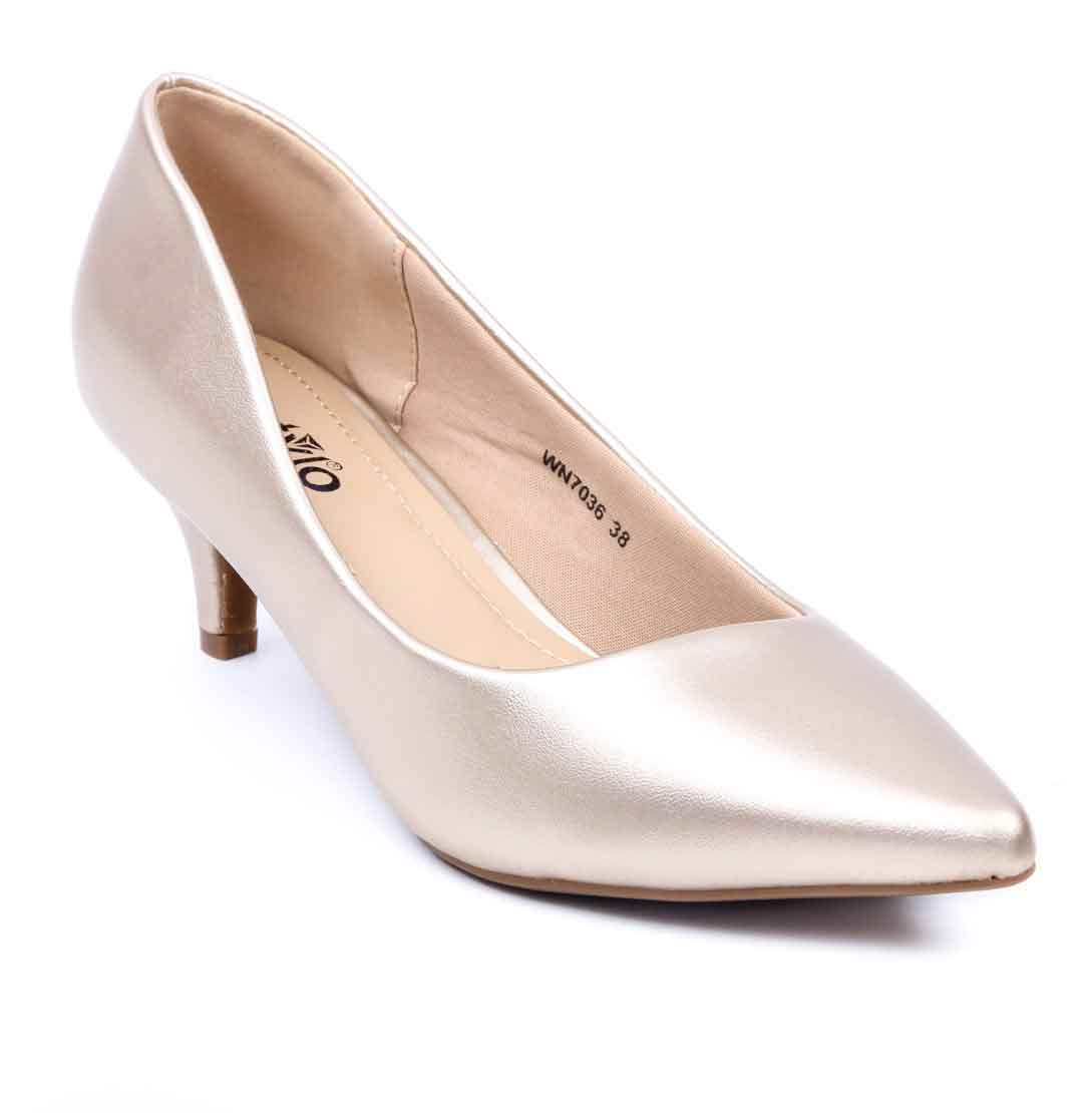 Silver pointed heels by stylo shoes