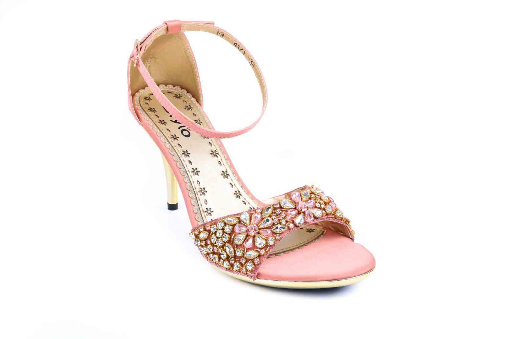 Pink heels dtylo shoes for girls
