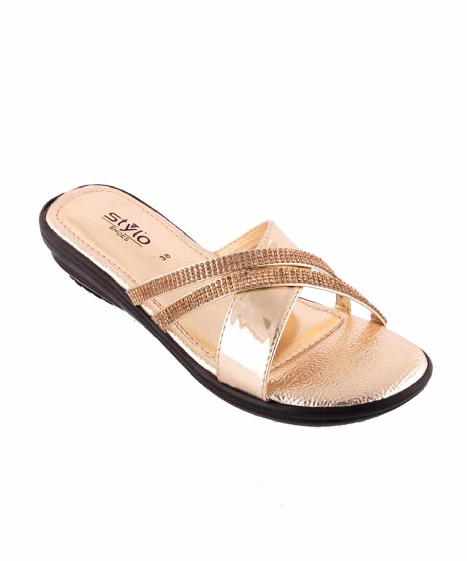Golden sandal for women