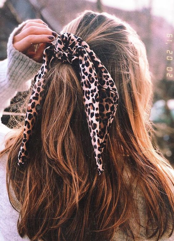 Half open head scarf hairstyle