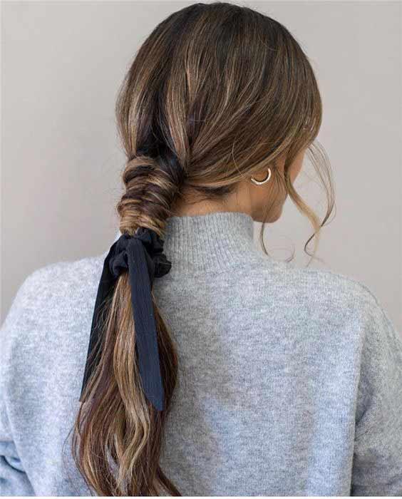 Braided head scarf style