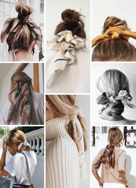 Head scarf headband style for girls
