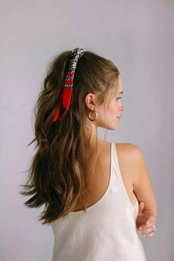 Simple headband hairstyle