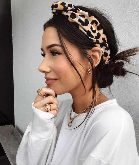 Tiger print head wrap