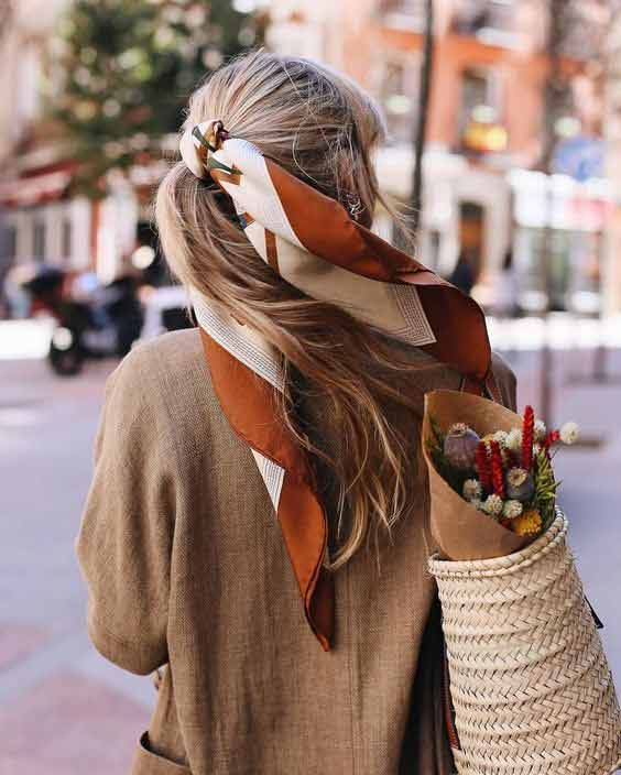 Ponytail head scarf