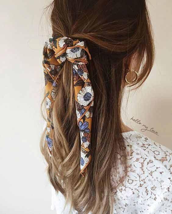 Classic ponytail head wrap
